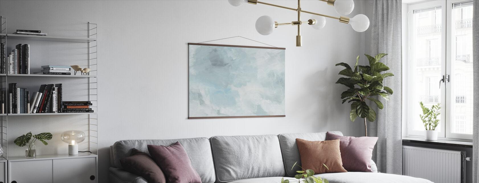 Blush Türkis - Poster - Wohnzimmer