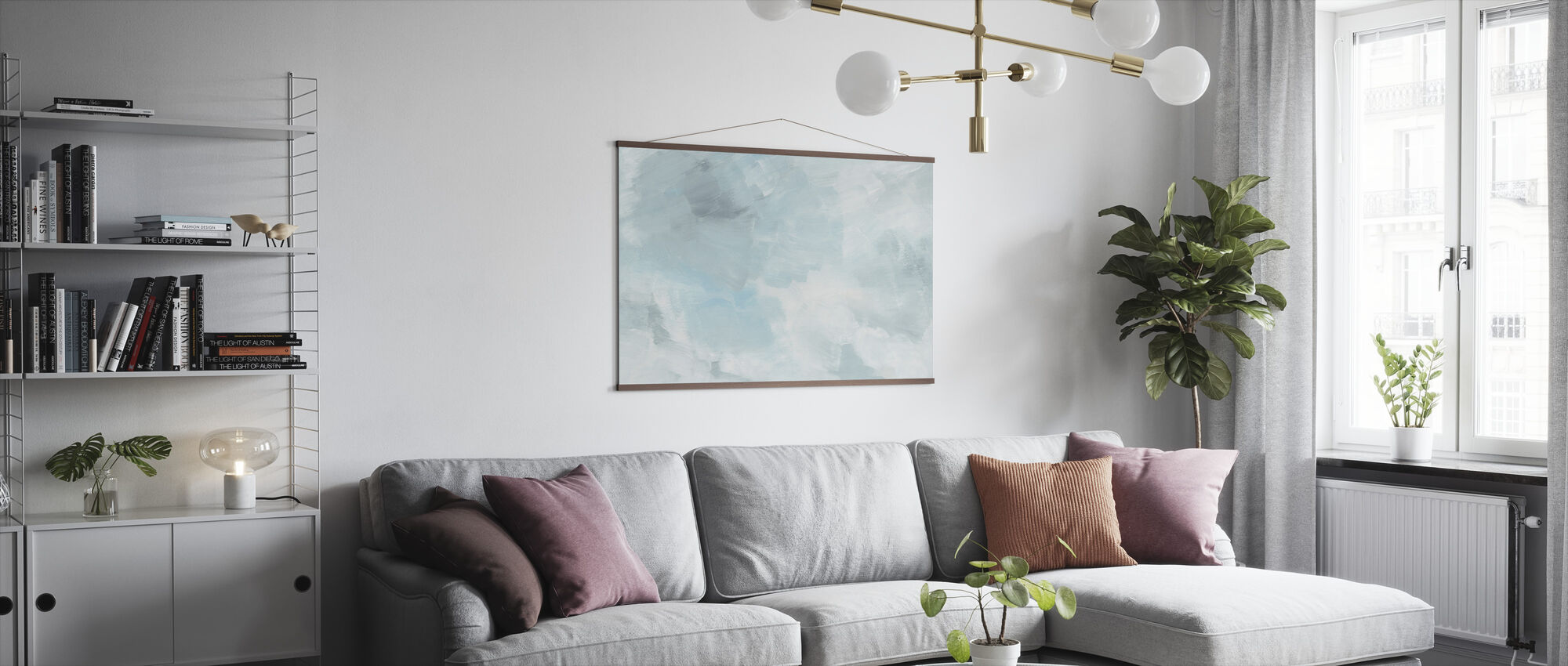 Blush Turquoise - Poster - Living Room