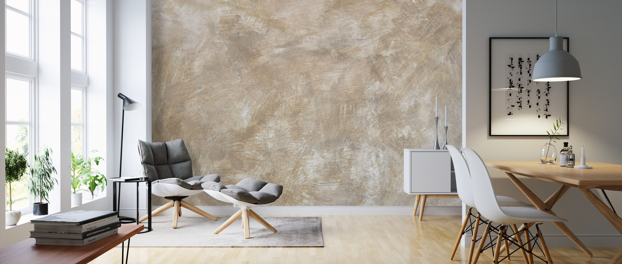 Brushed Wall - Wallpaper - Living Room