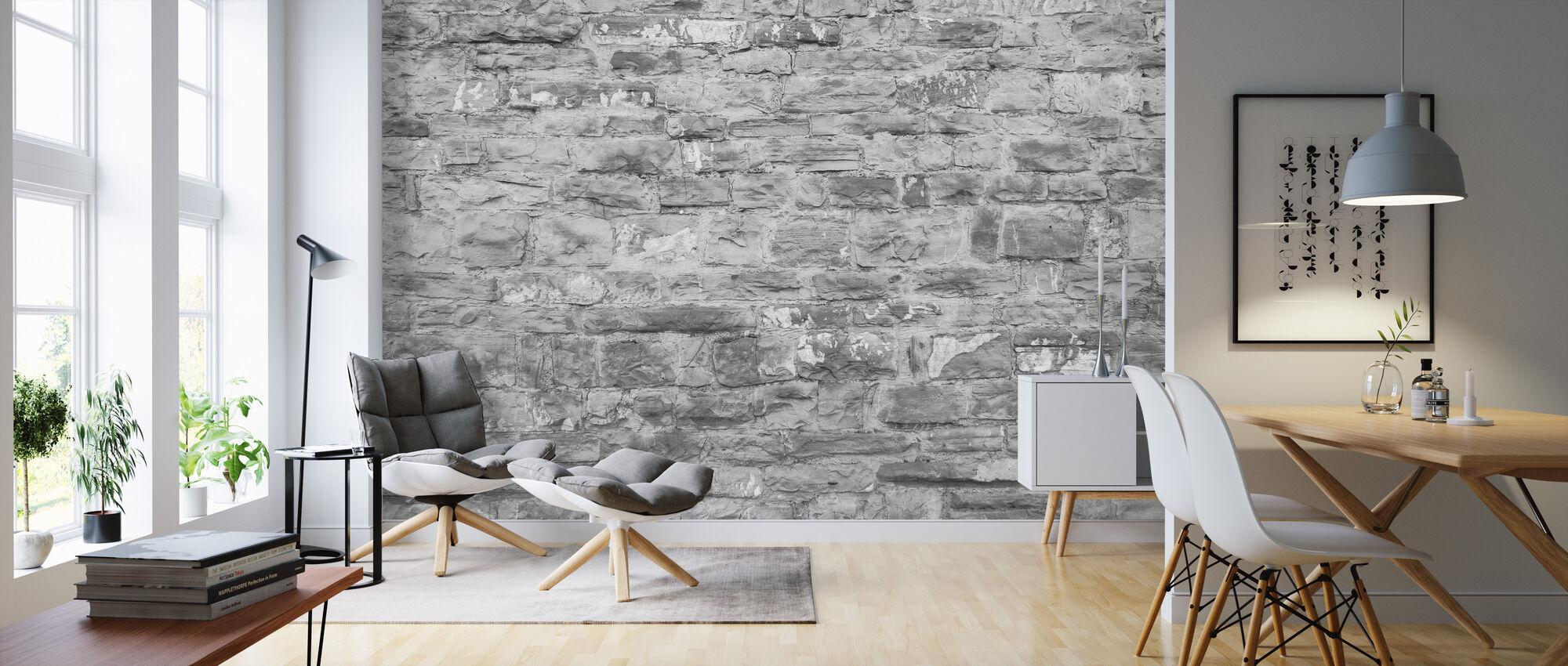 Täckt tegelvägg - Tapet - Vardagsrum