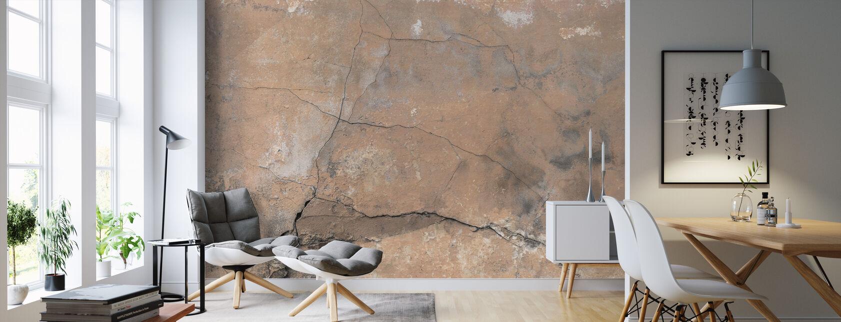Sprukket steinmur - Tapet - Stue