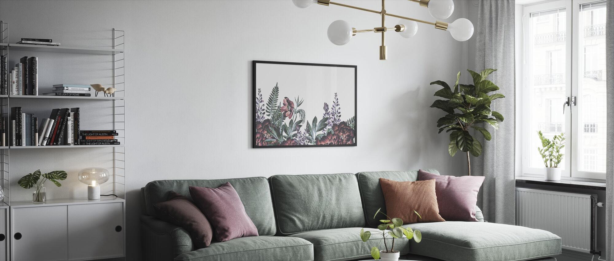 Flower and Plants Harmony II - Framed print - Living Room