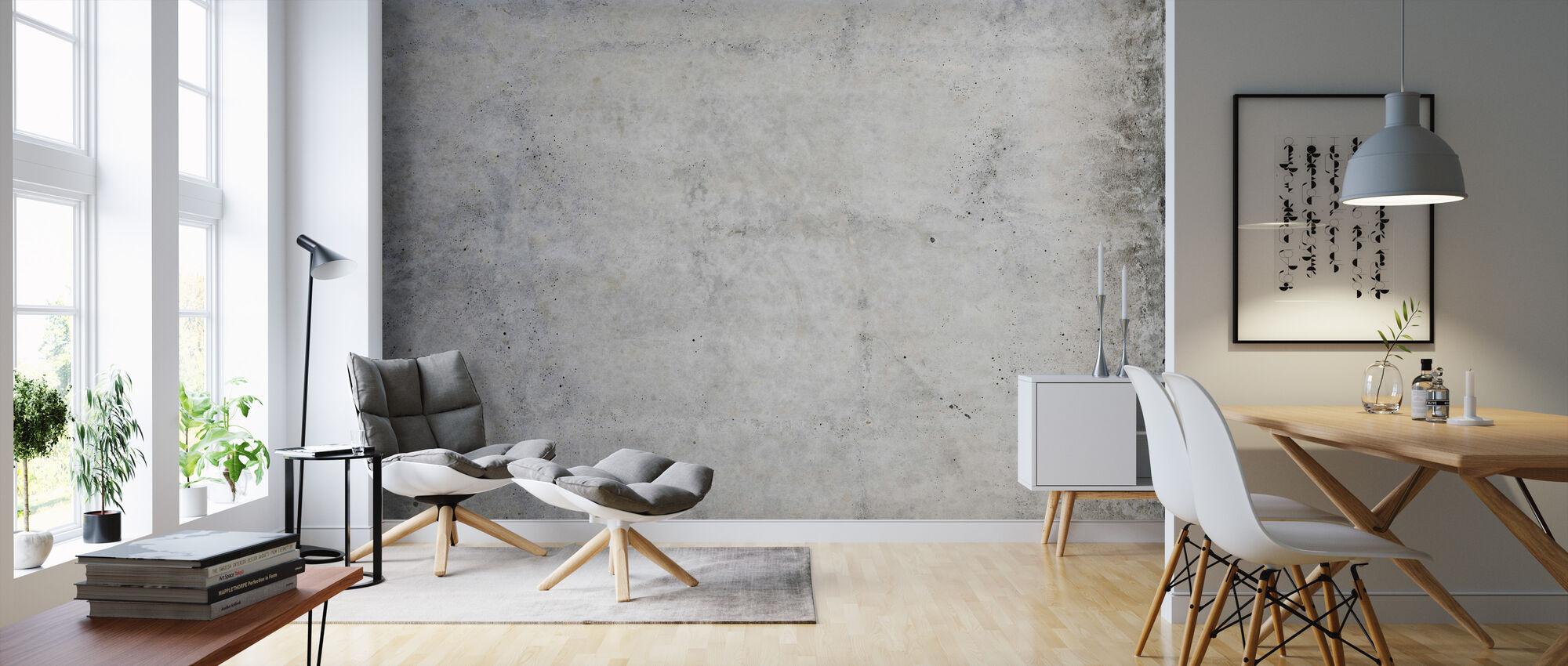 Flushed Concrete - Wallpaper - Living Room