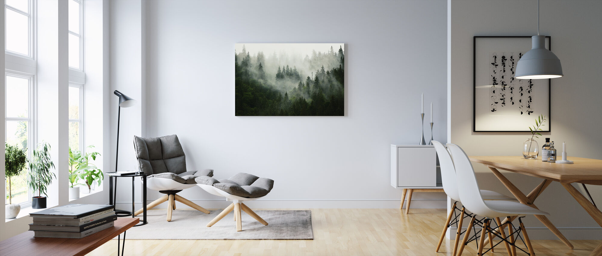 Foggy Forest - Canvas print - Living Room