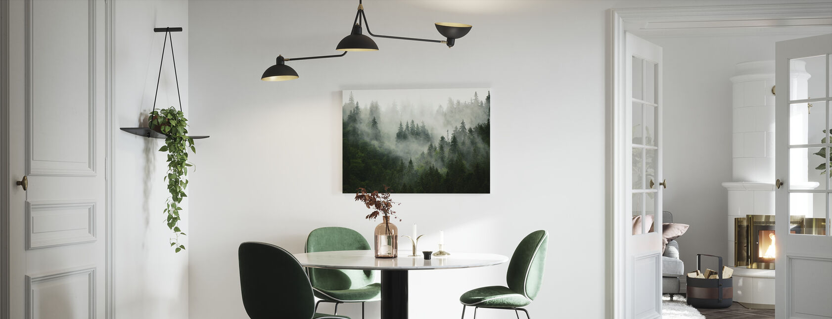 Nebel Wald - Leinwandbild - Küchen