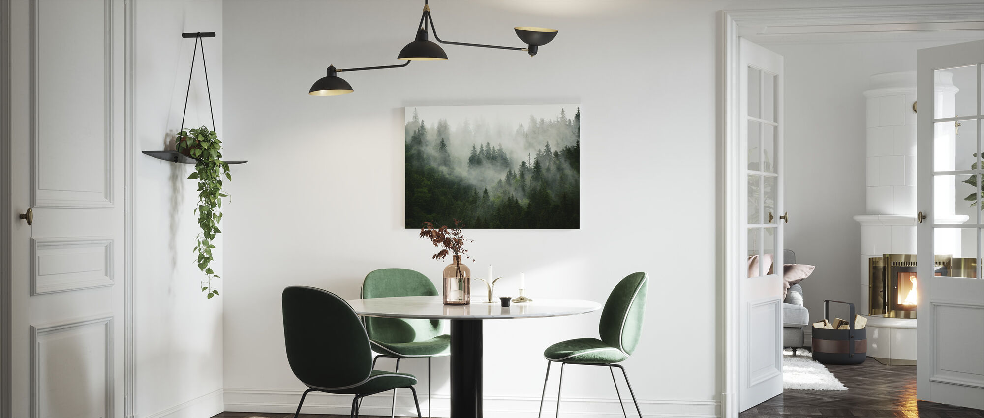 Foggy Forest - Canvas print - Kitchen