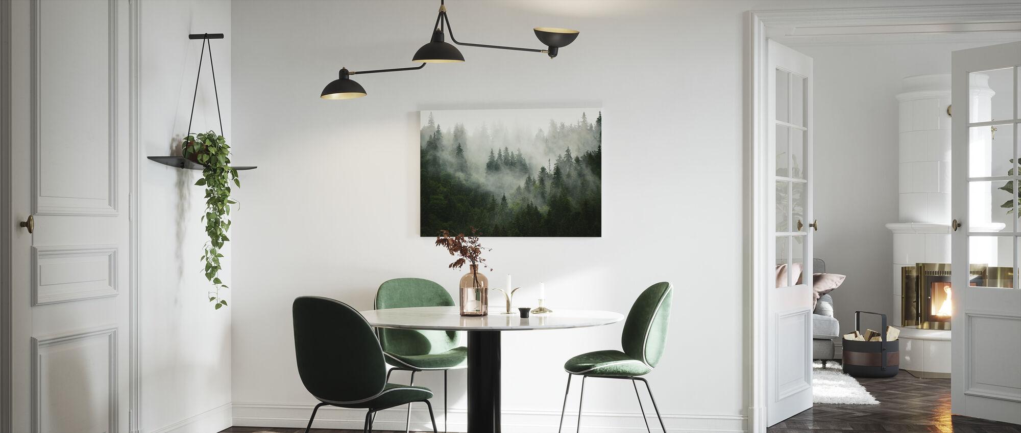 Mistig bos - Canvas print - Keuken
