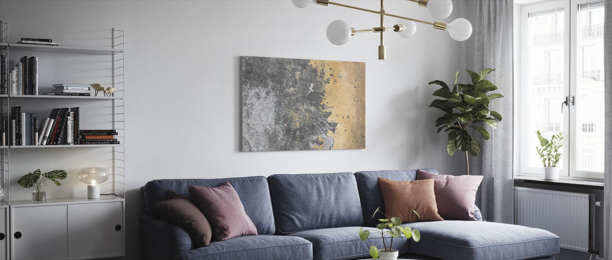 Grunge en Peeling Muur - Canvas print - Woonkamer