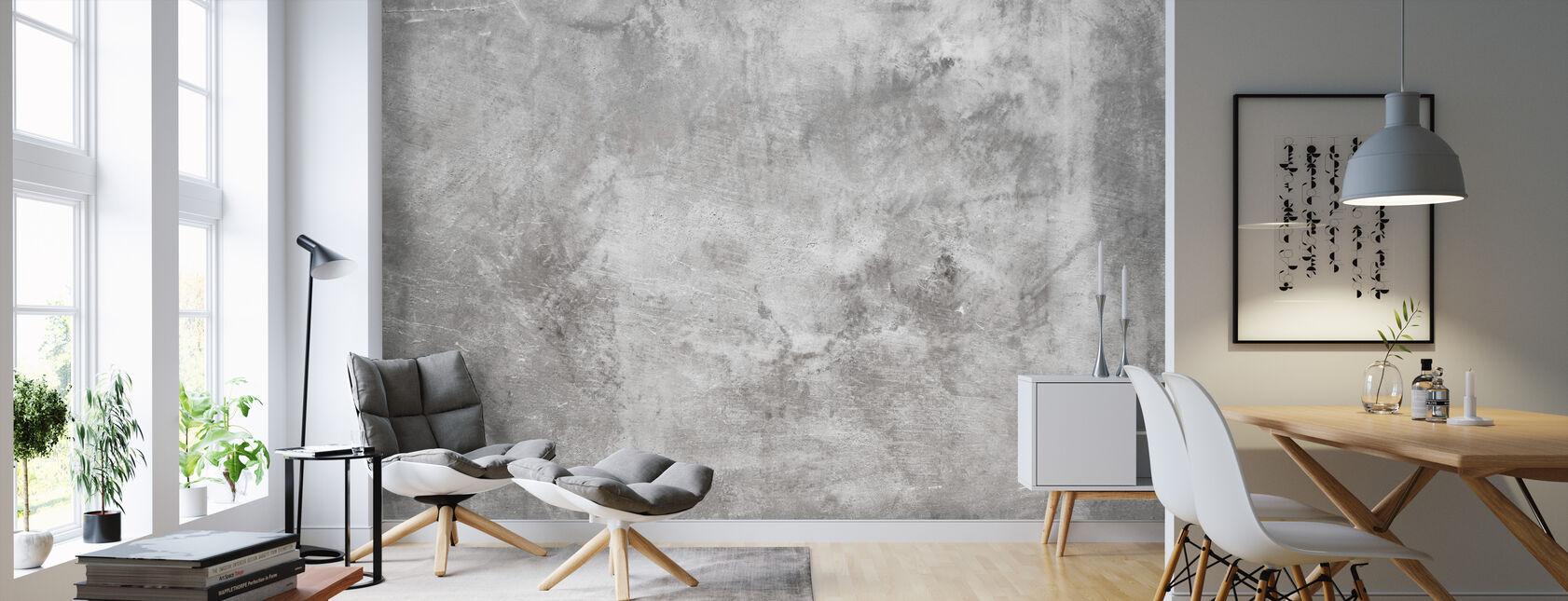 Grungig grov betongvägg - Tapet - Vardagsrum