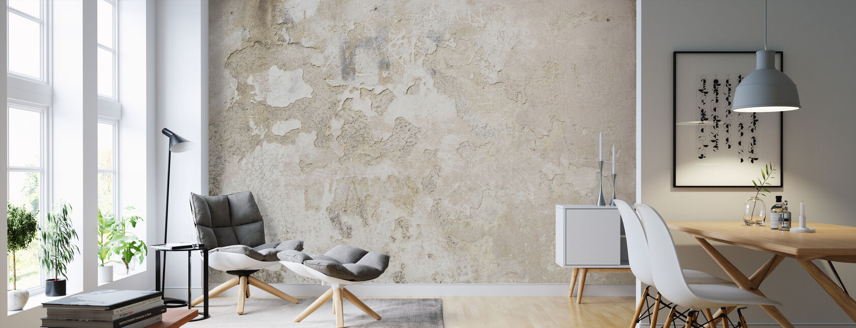 Light Street Wall - Tapete - Wohnzimmer