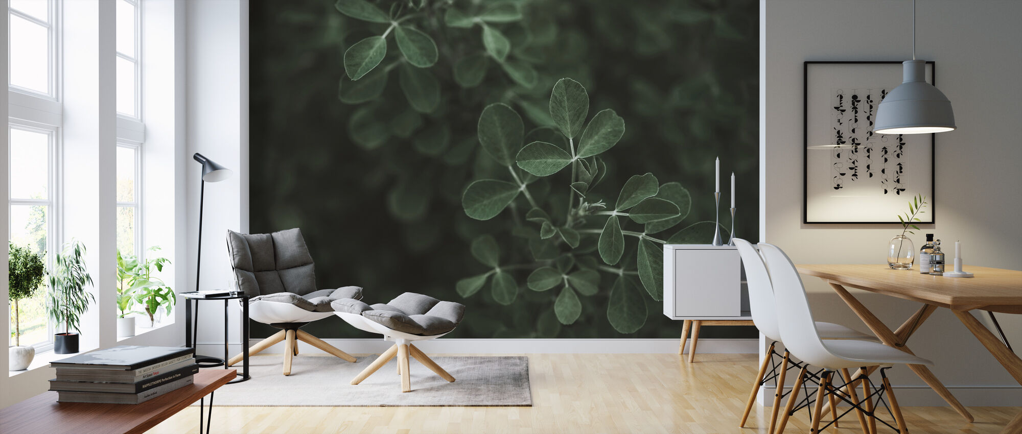 Low Key Leaf - Wallpaper - Living Room