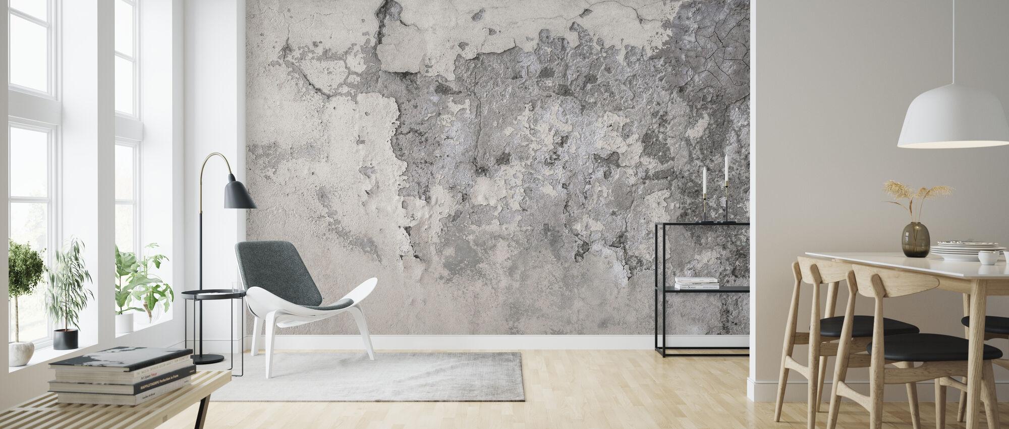 Oude gebarsten muur - Behang - Woonkamer