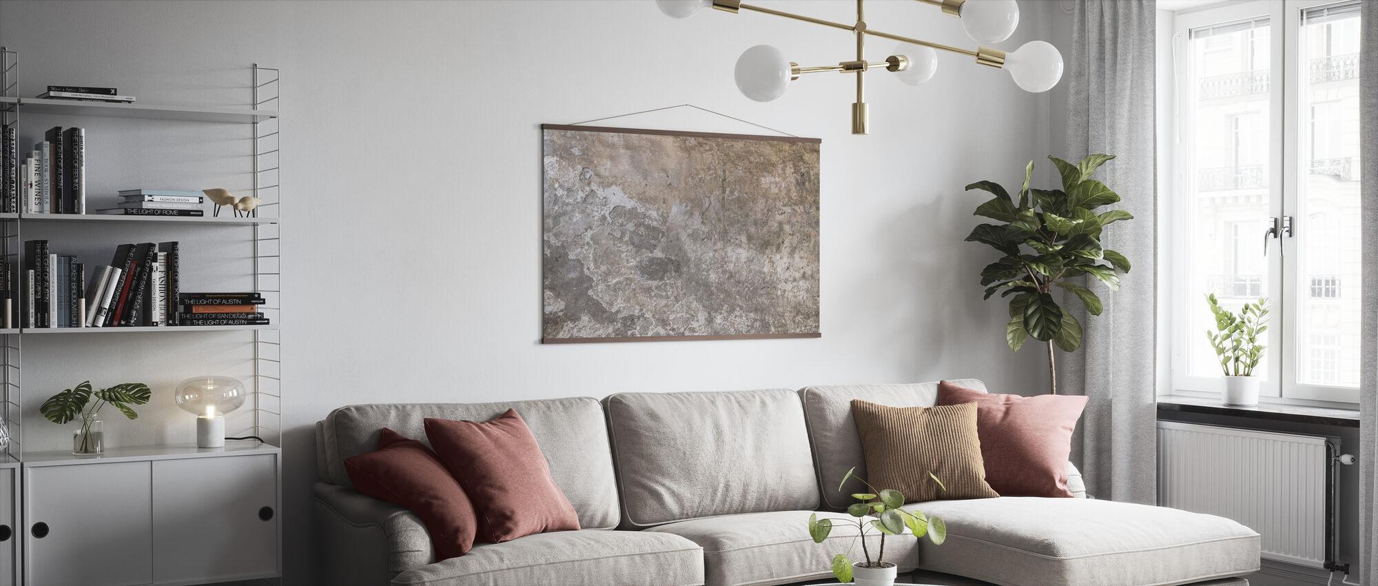 Alte Farbe rissige Wand - Poster - Wohnzimmer