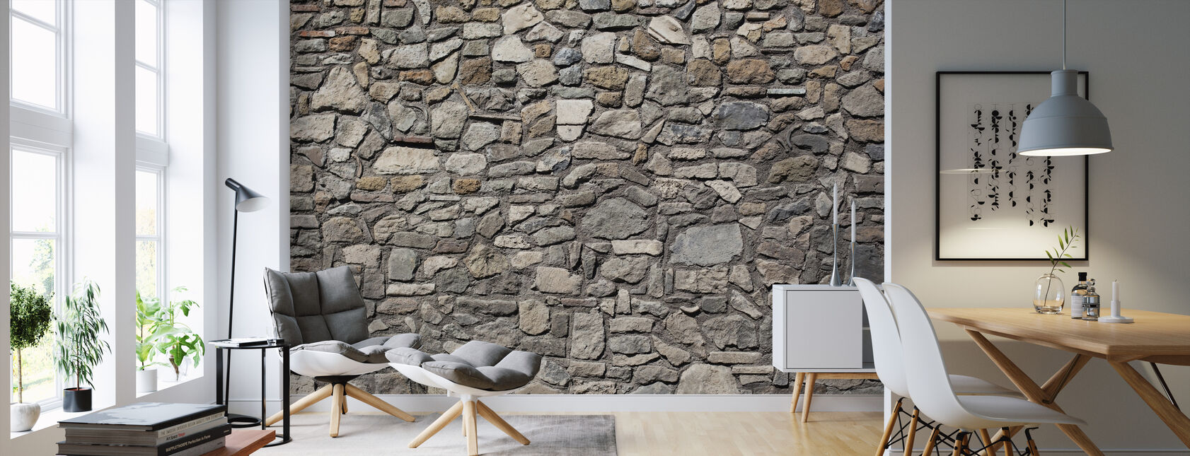 Old Stone Wall - Wallpaper - Living Room