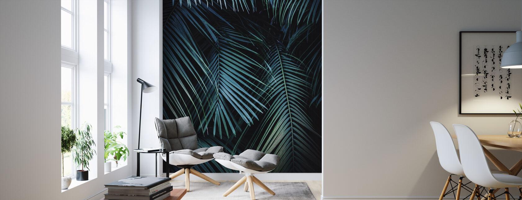 Palm Bladene i natten - Tapet - Stue