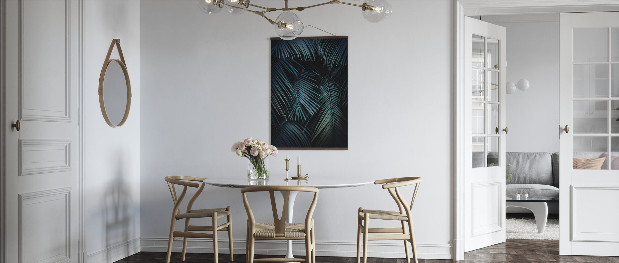 Palm Leaves in the Night - Poster - Kitchen