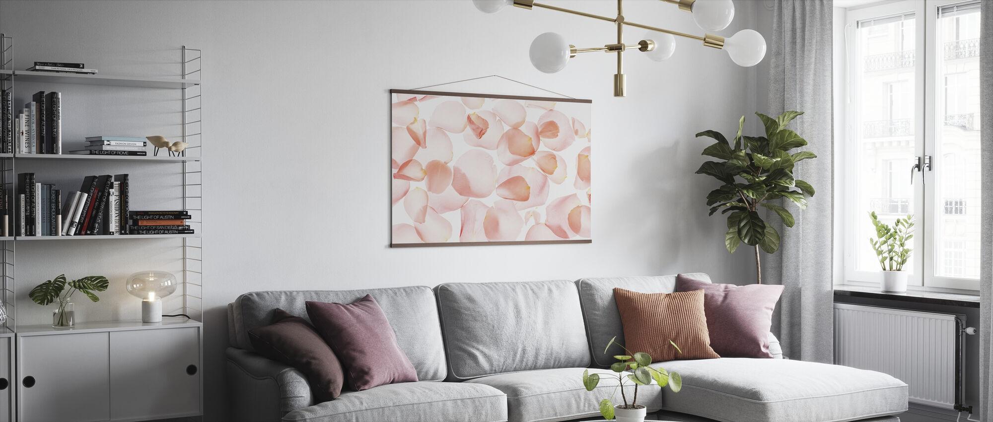 Pastel Roze Aquarel - Poster - Woonkamer