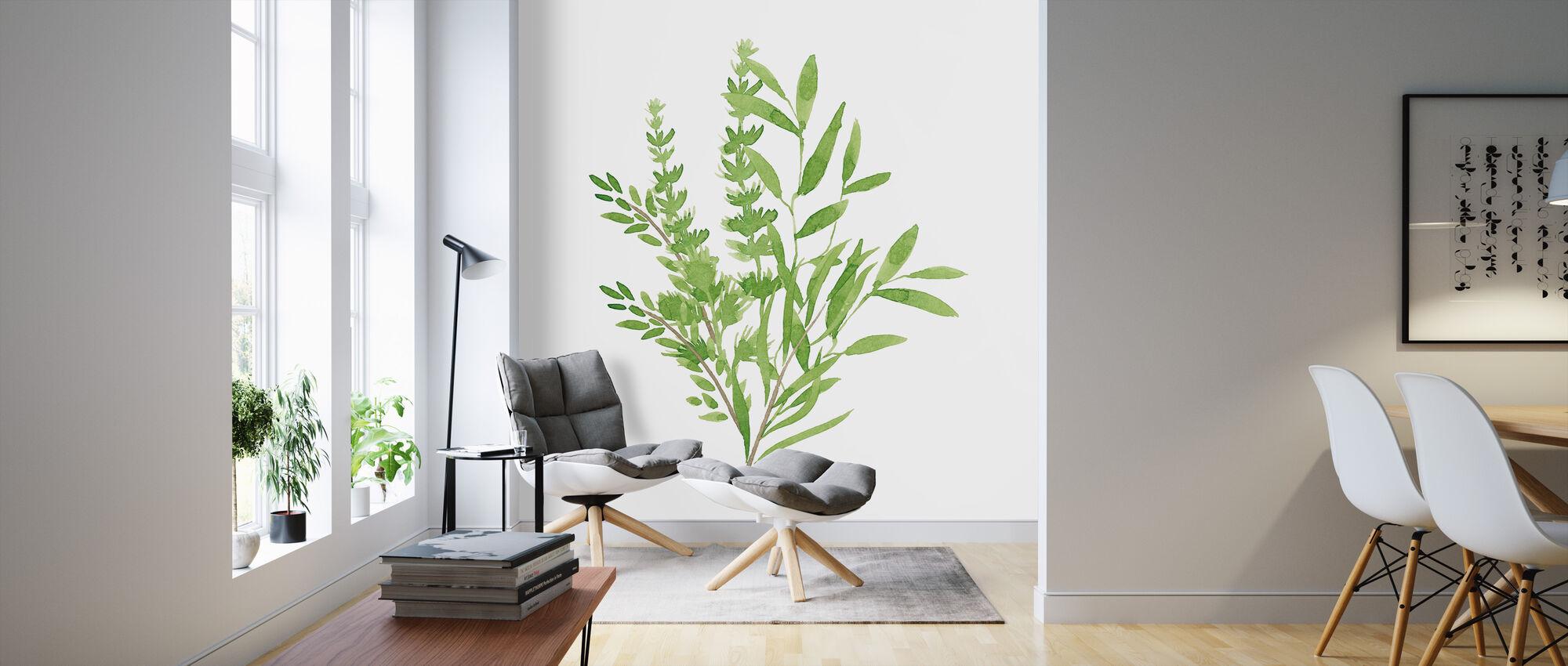 Plant Lush II - Wallpaper - Living Room