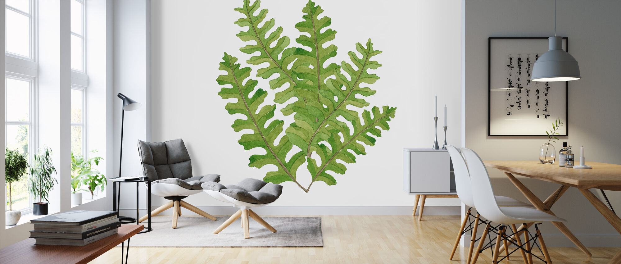 Plant Lush III - Wallpaper - Living Room