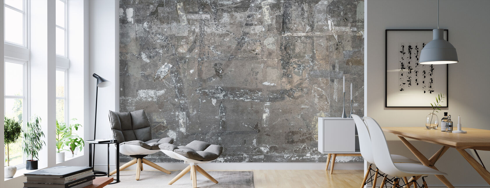 Ripped Poster Wall - Wallpaper - Living Room
