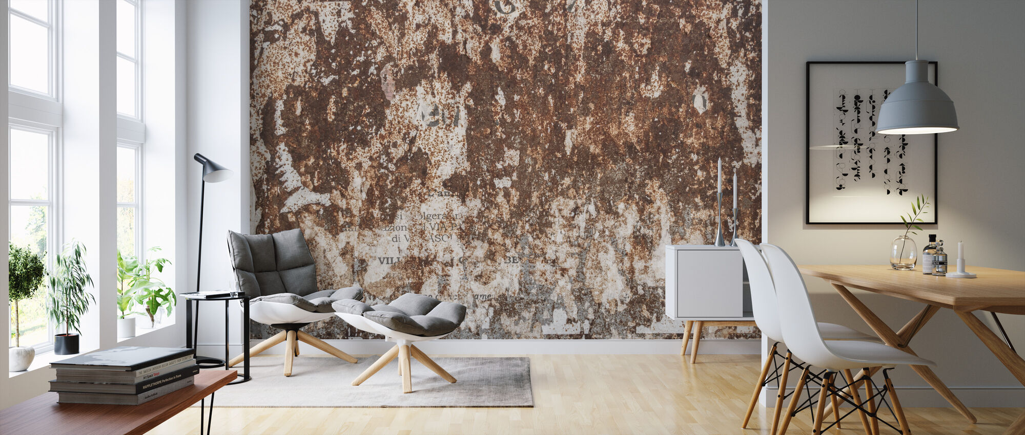 Rusty Wall - Wallpaper - Living Room