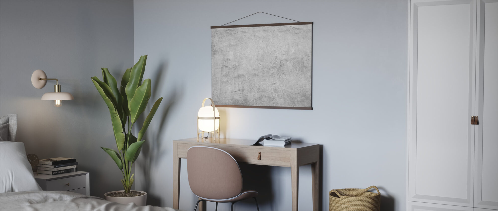 Scrubbed Concrete Wall - Poster - Office