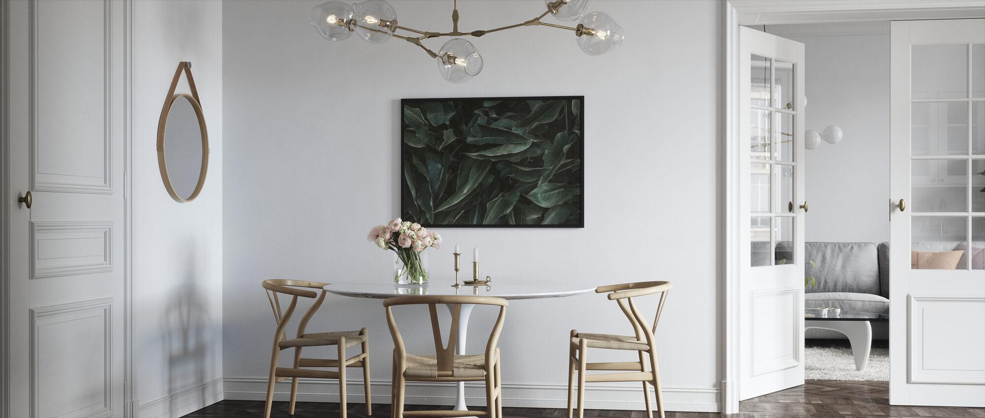 Succulent - Indrammet billede - Køkken