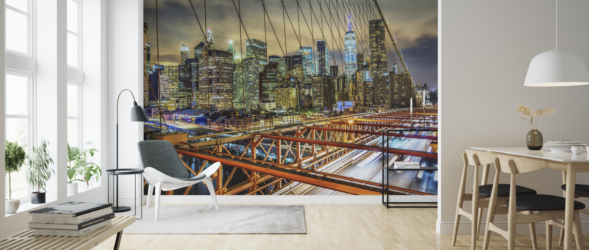 Top of Brooklyn Bridge - Wallpaper - Living Room