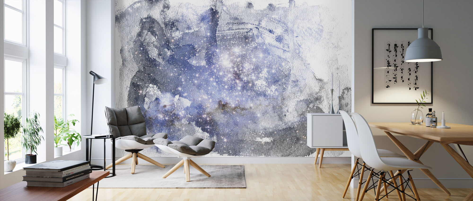 Watercolor Galaxy - Wallpaper - Living Room