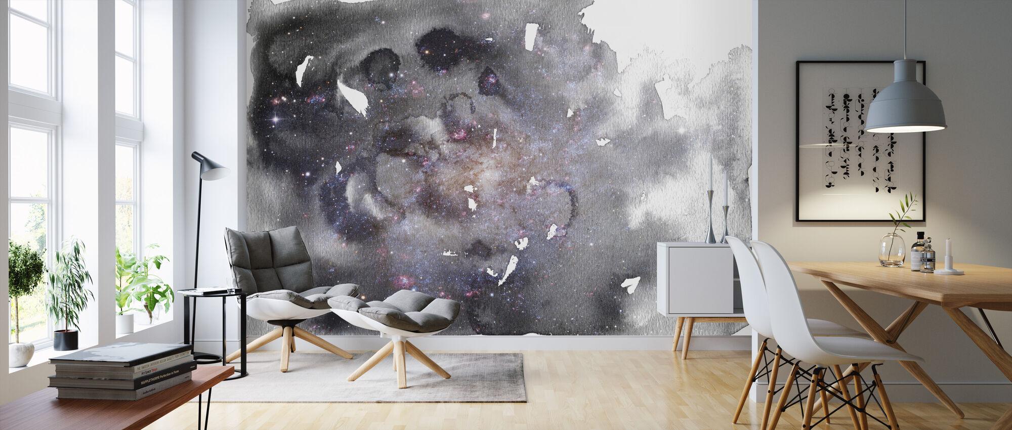 Akvarell Galaxy II - Tapet - Stue