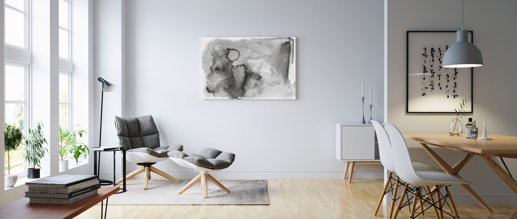 Akvarell Galaxy IIII - Canvastavla - Vardagsrum