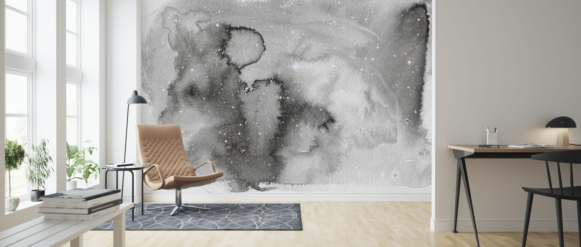 Watercolor Galaxy IIII - Wallpaper - Living Room
