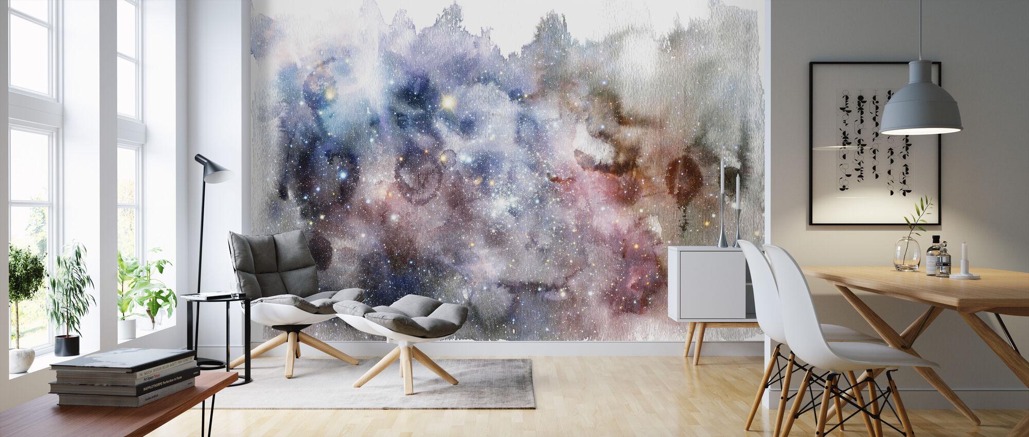 Watercolor Galaxy V - Wallpaper - Living Room