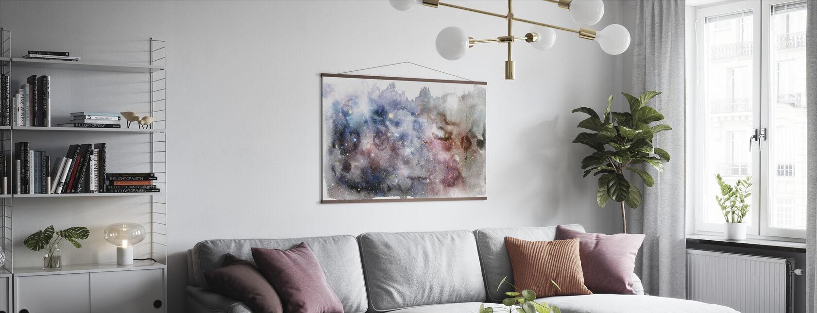 Acuarela Galaxy V - Póster - Salón