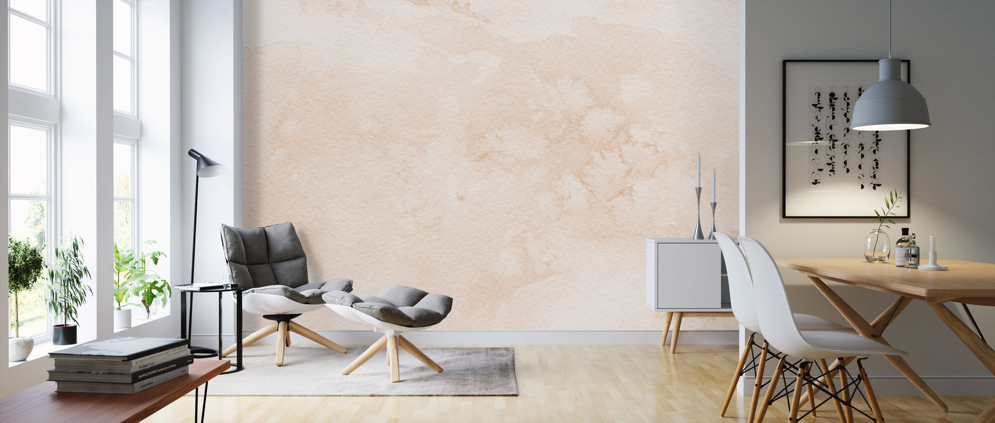Watercolor Minimalism I - Wallpaper - Living Room