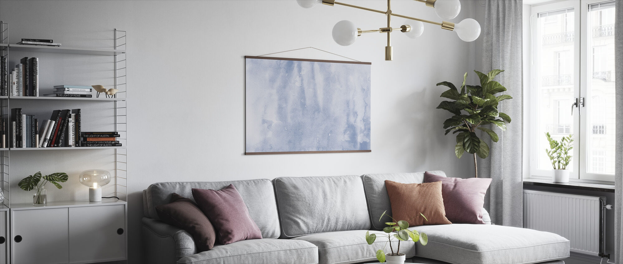 Watercolor Minimalism II - Poster - Living Room