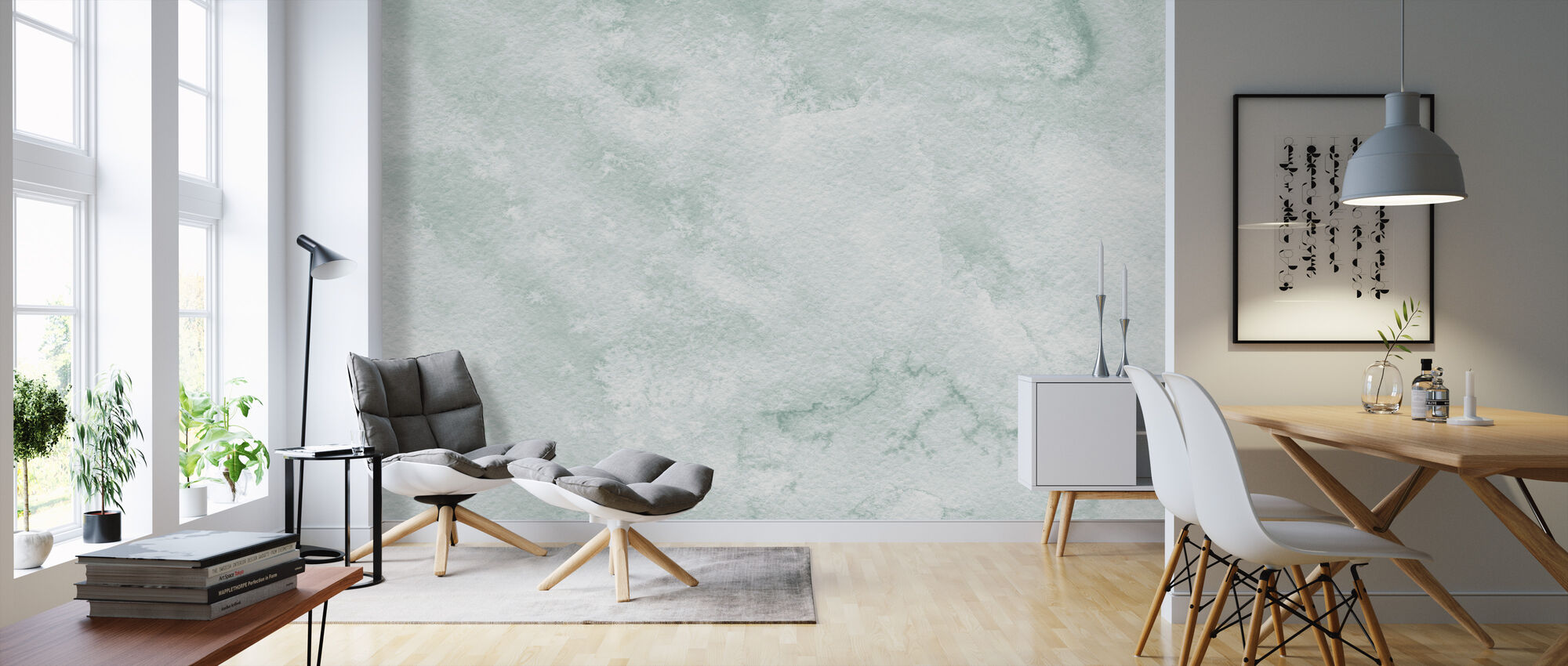 Watercolor Minimalism III - Wallpaper - Living Room