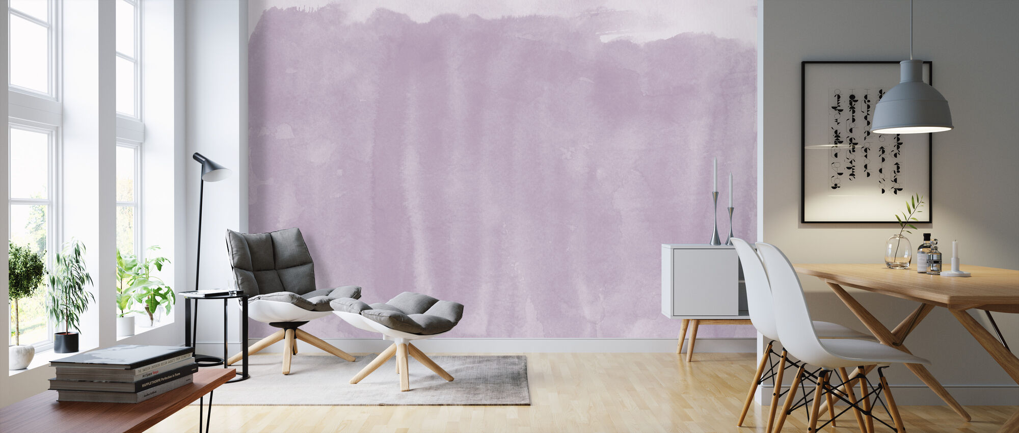 Watercolor Minimalism VIIII - Wallpaper - Living Room