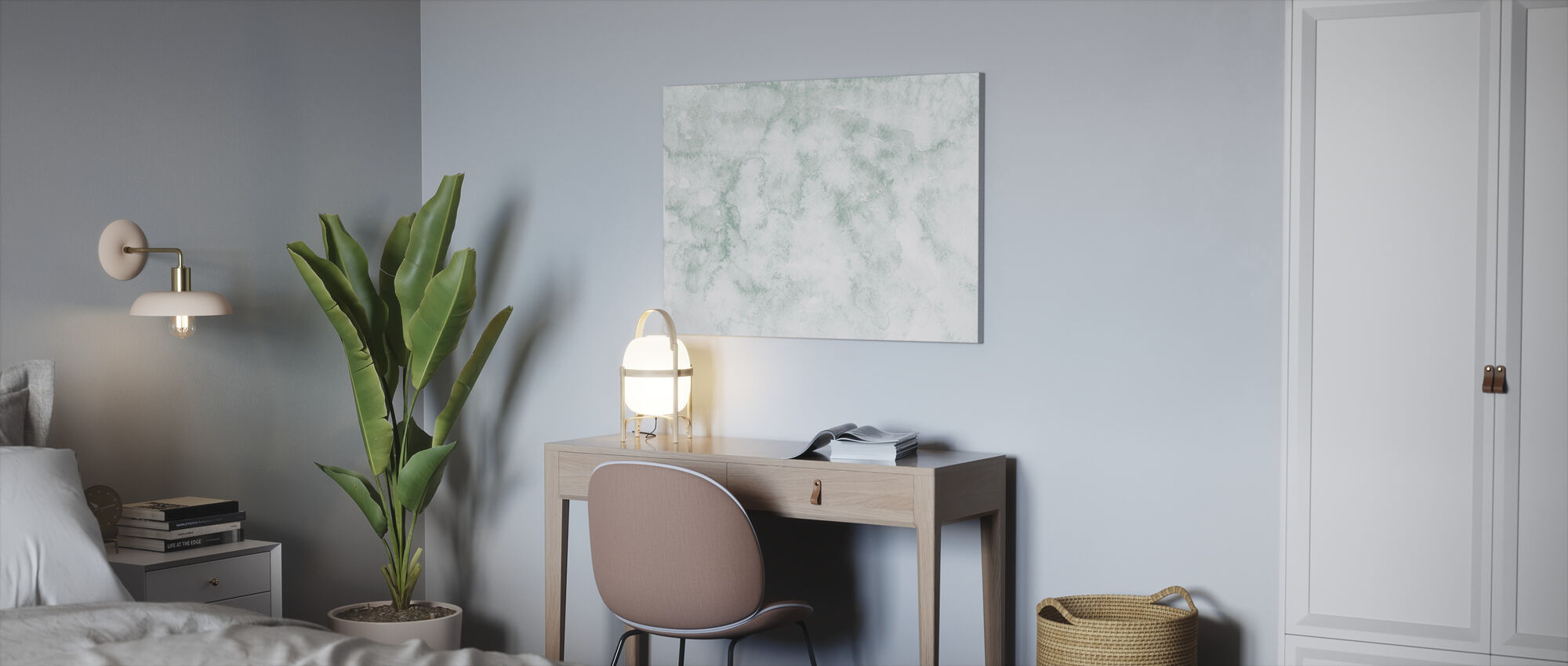 Watercolor Minimalism X - Canvas print - Office