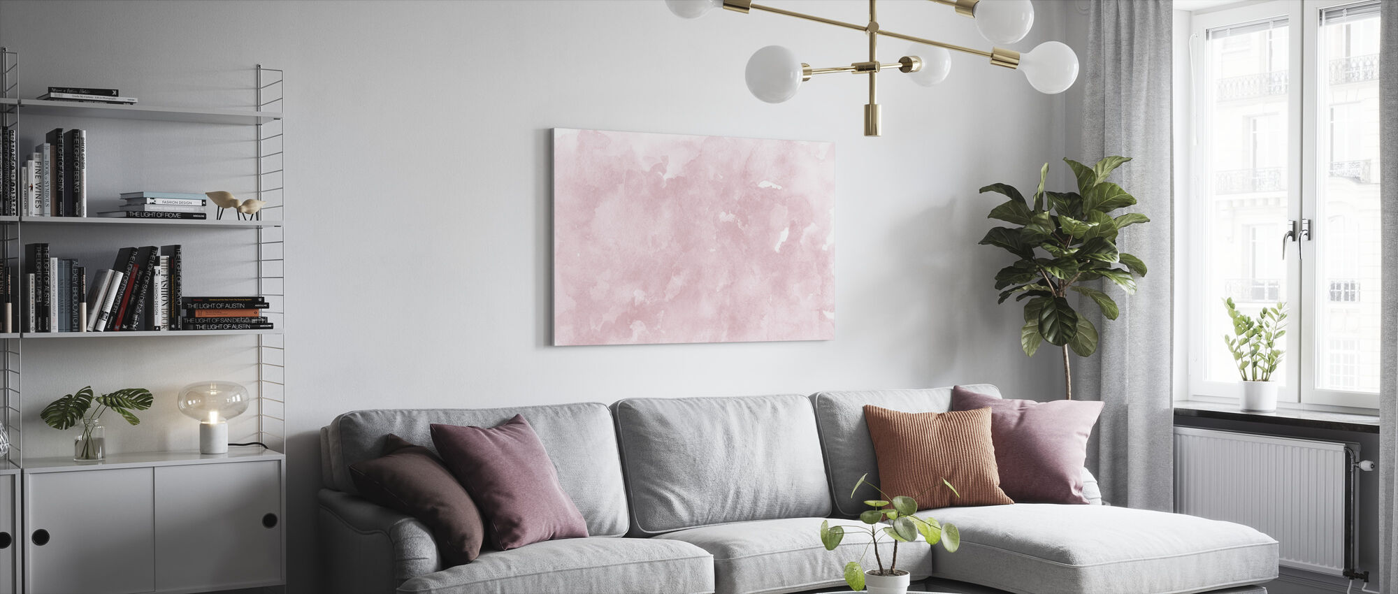 Watercolor Minimalism XI - Canvas print - Living Room