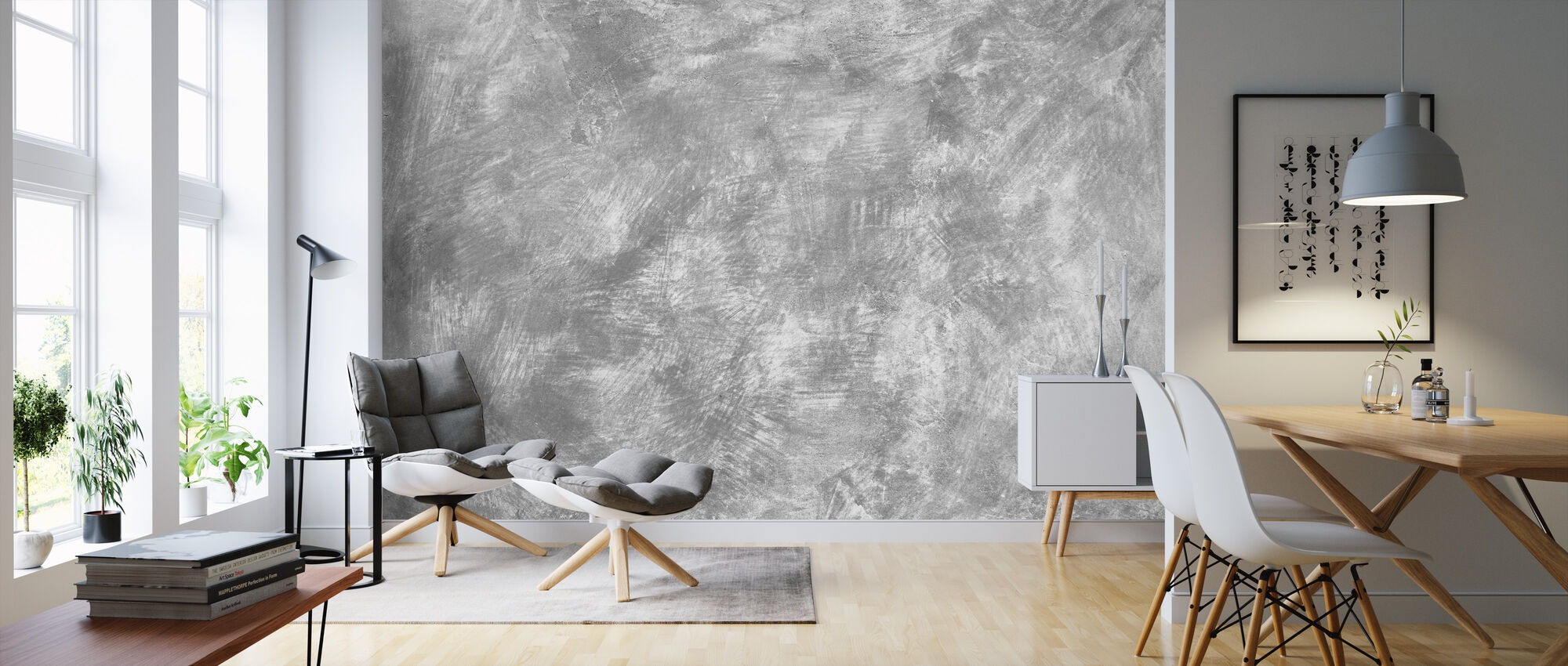 Weathered Concrete Wall - Wallpaper - Living Room