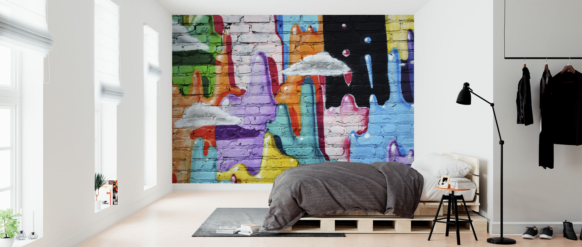 Colorful Abstract Graffiti - Wallpaper - Bedroom