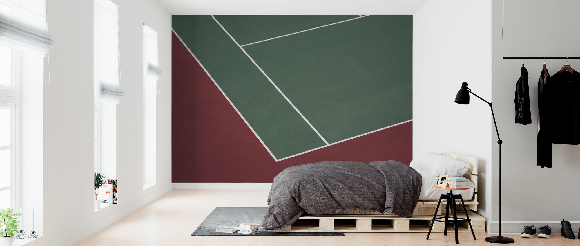 Kort tenisowy - Tapeta - Sypialnia