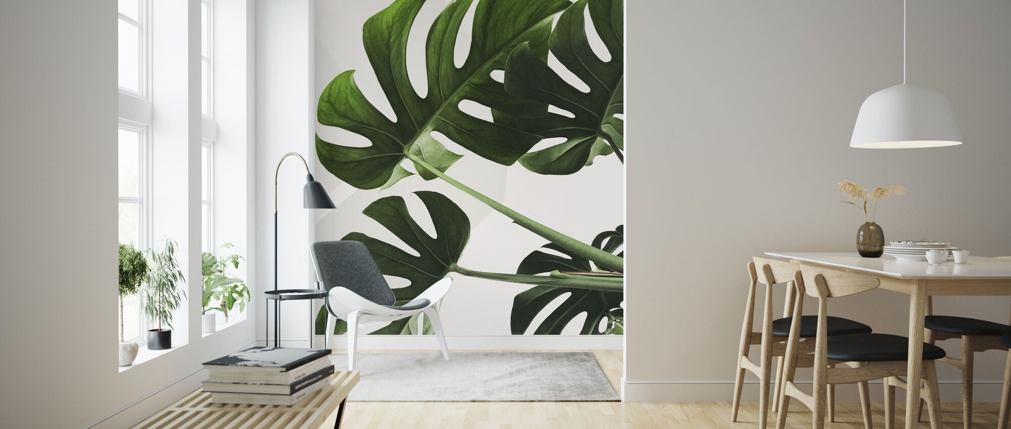 Monstera Blad - Tapet - Vardagsrum