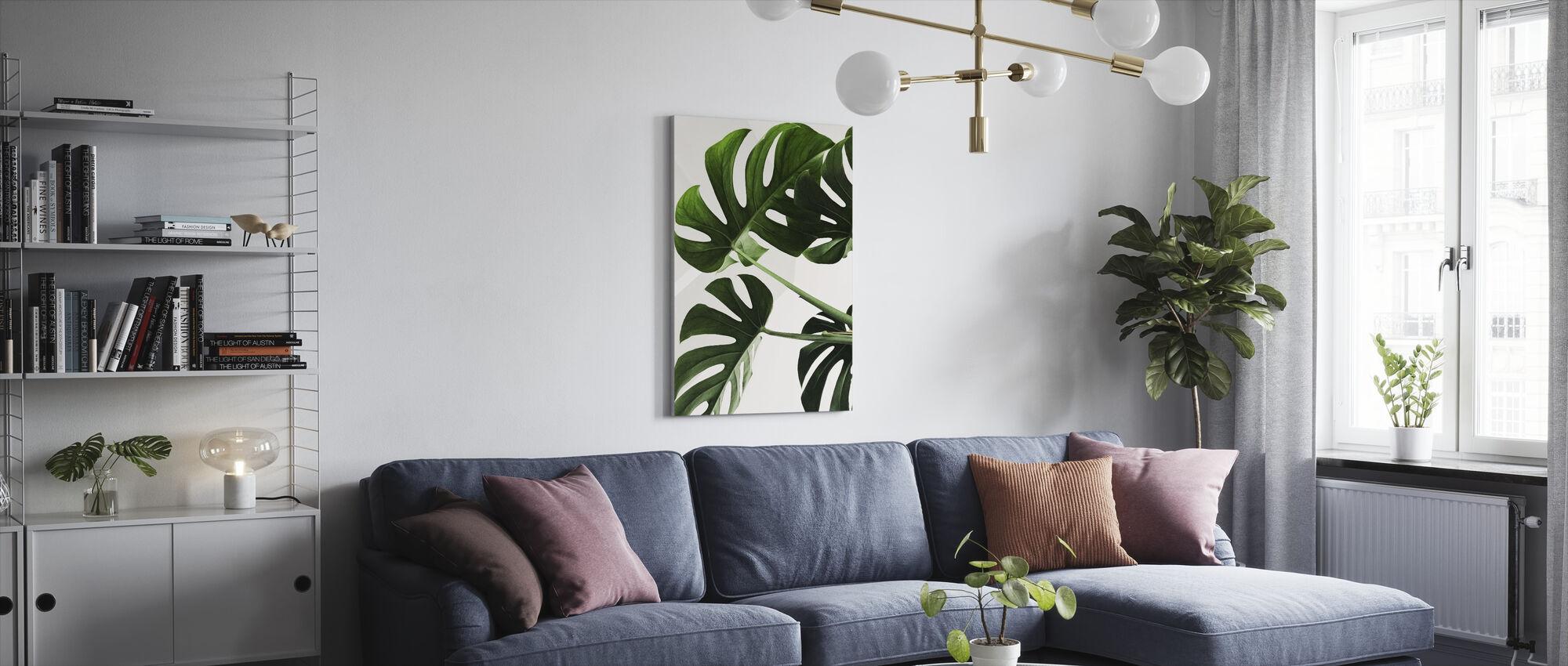 Monstera Leaves - Canvas print - Living Room