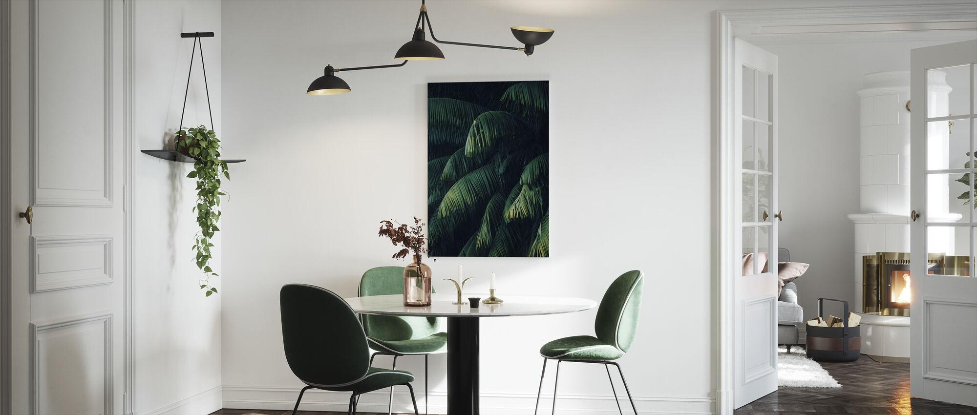 Trooppiset palmun lehdet - Canvastaulu - Keittiö