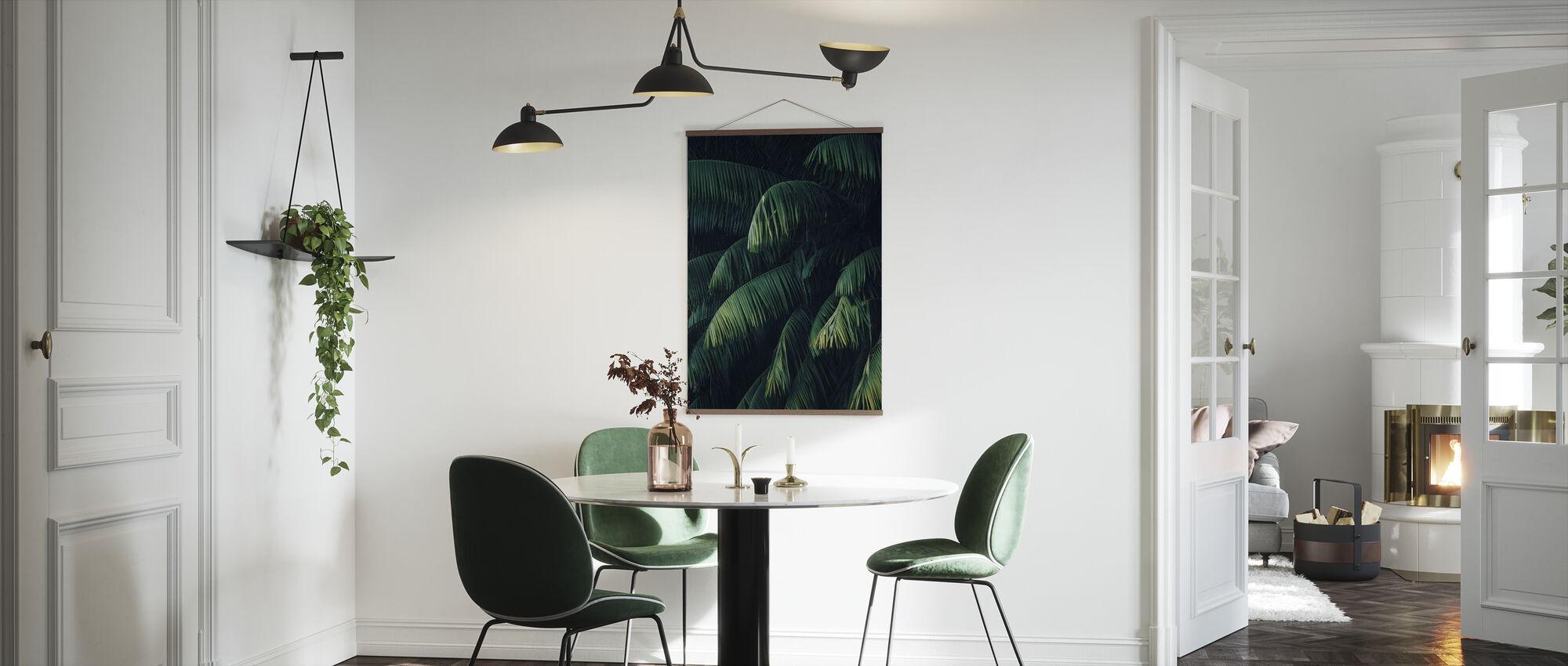 Tropiske palmeblader - Plakat - Kjøkken