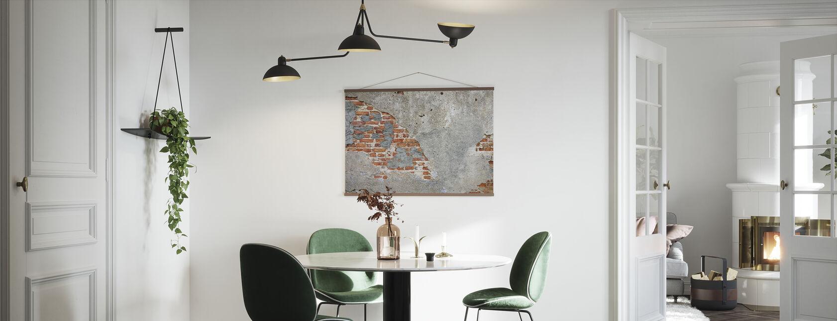 Bakstenen muur - Poster - Keuken