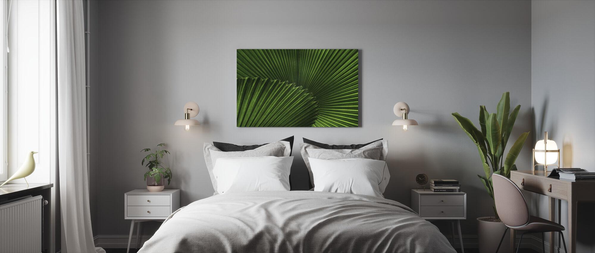 Vifter Palm blader - Lerretsbilde - Soverom