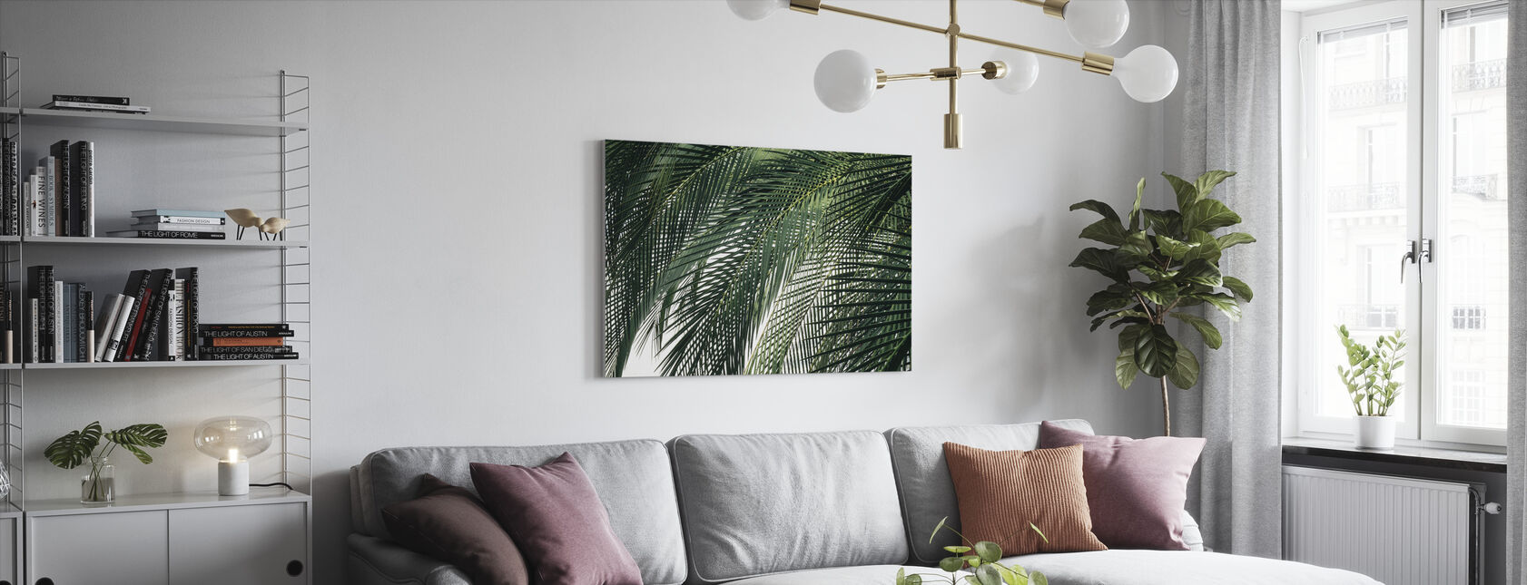 Palmboom - Canvas print - Woonkamer